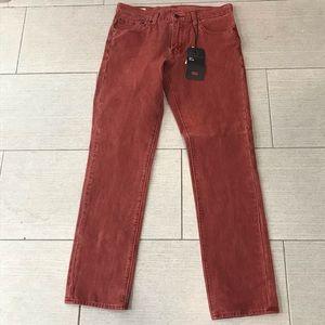 NWT Levi's 511 Slim Corduroy Pants size 33x32
